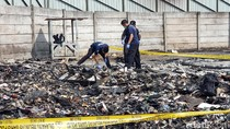 Puslabfor Polri Selidiki Kebakaran Kios Pedagang Pasar Pelita Sukabumi