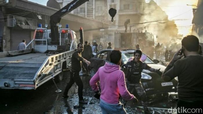Foto Pengeboman di Suriah, 6 orang tewas. (AFP)