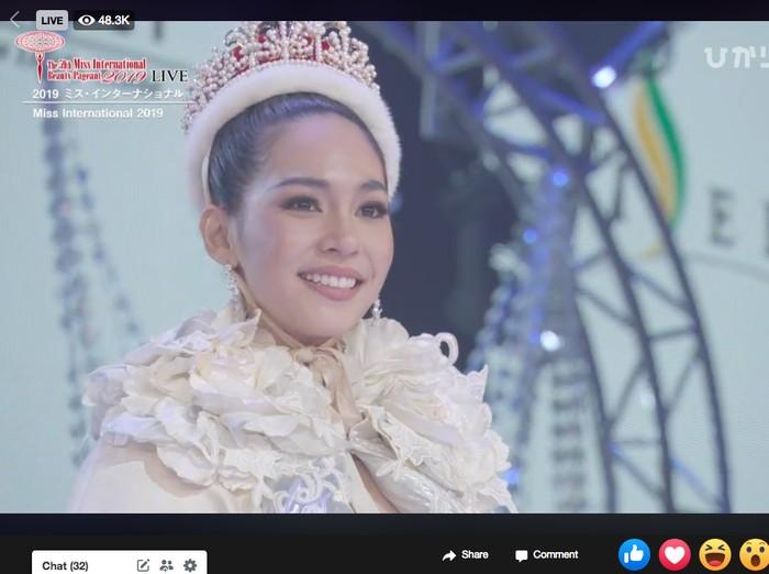 Miss Thailand Sireethorn Leearamwat juara Miss International 2019. Foto: Dok. Miss International