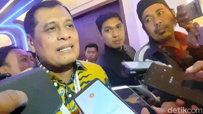 Ketua Korbid Pratama DPP Golkar Nurdin Halid (Muhammad Nur Abdurrahman/detikcom)