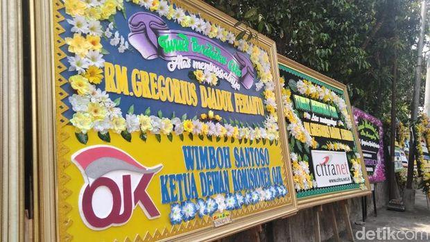 Karangan Bunga untuk Djaduk Penuhi Padepokan Seni Bagong Kussudiardja