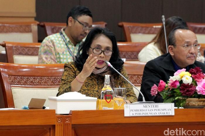 Menteri PPPA rapat di DPR (Foto: Lamhot Aritonang-detikcom)