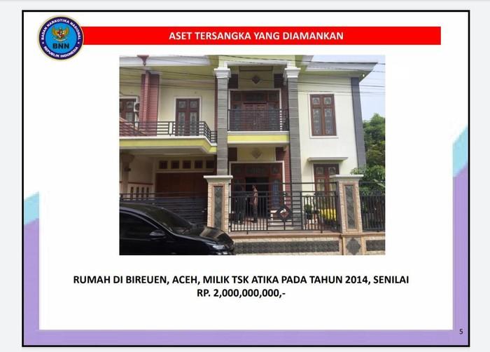Aset istri mafia sabu Aceh, Murtala Ilyas, yang disita BNN (Foto: Dok. BNN)