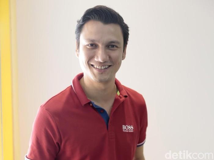 Christian Sugiono saat berkunjung ke kantor detikcom.