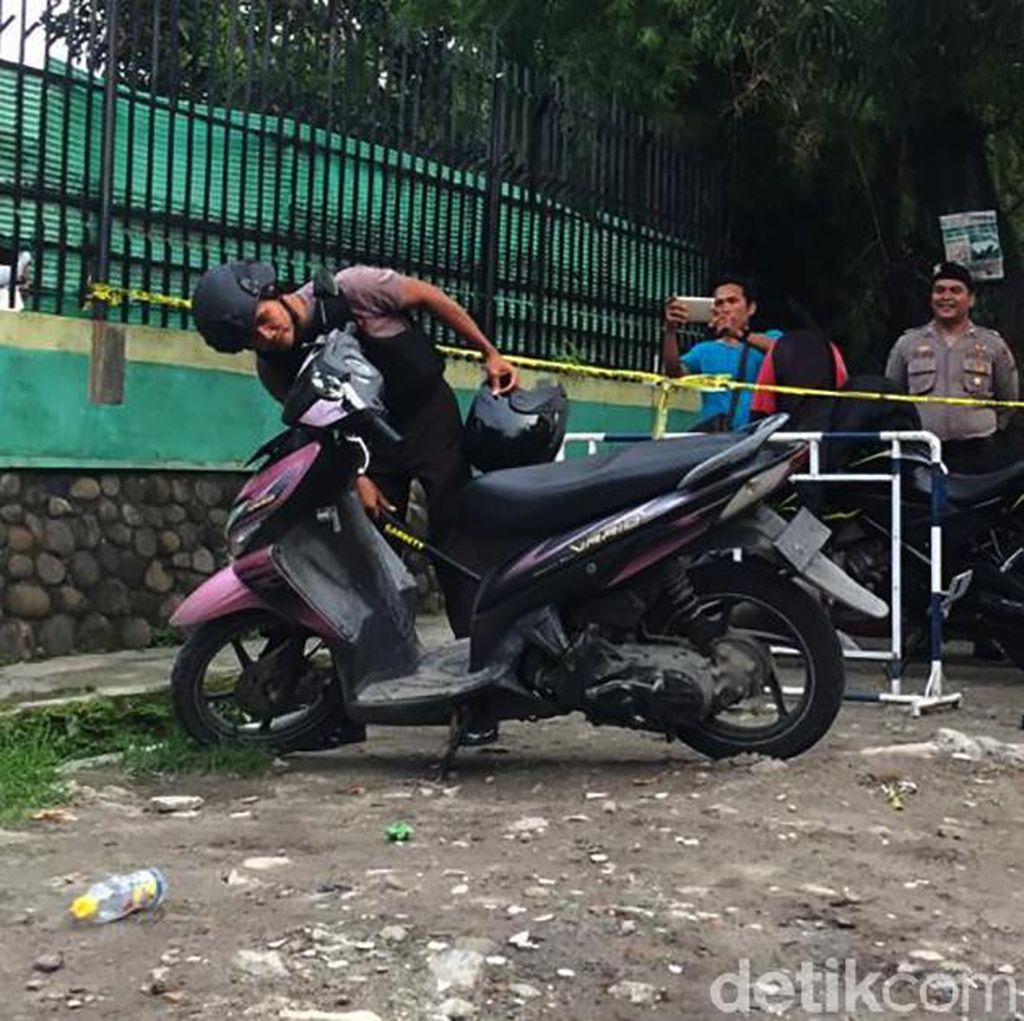 Polisi Temukan Peluru di Sepeda Motor Pelaku Bom Bunuh Diri di Medan