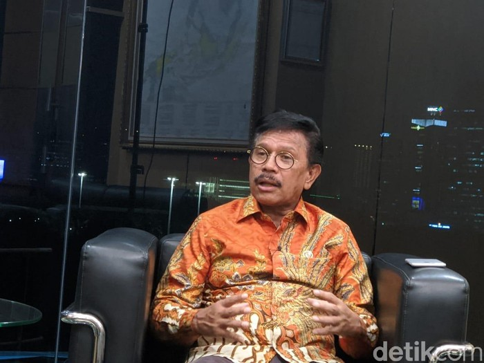 Menkominfo Johnny G Plate (detikINET/Adi Fida Rahman)