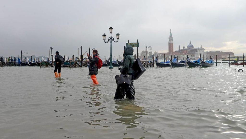 Banjir di Venesia Kini Berstatus Darurat Bencana
