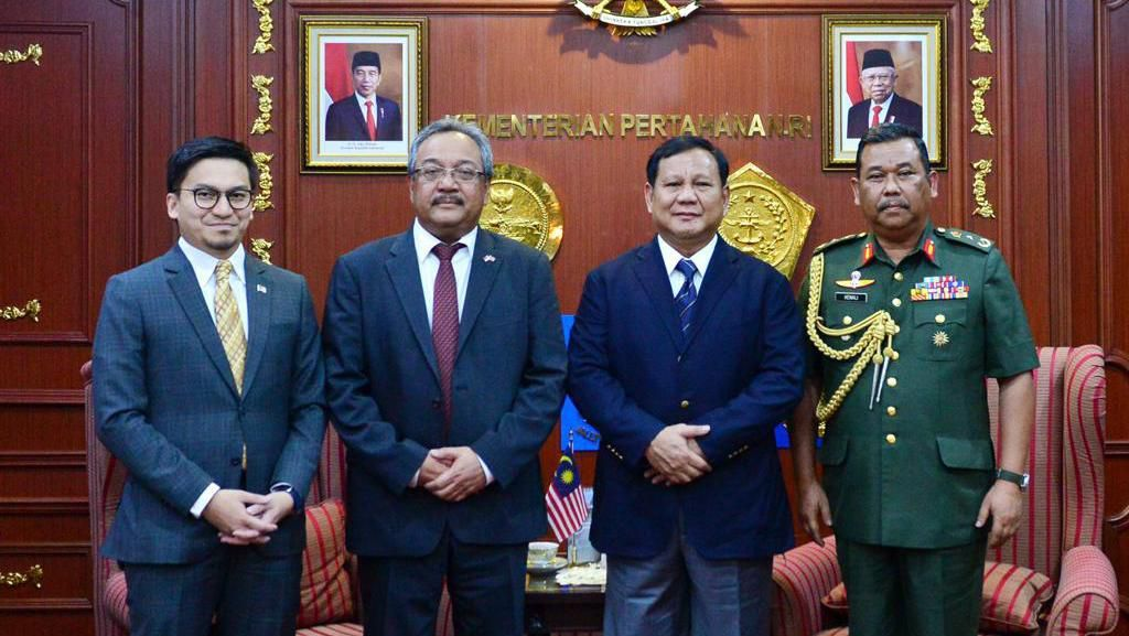 Menhan Prabowo-Dubes Malaysia Bahas Pertahanan demi Stabilitas Keamanan
