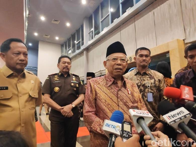 Maruf Amin soal Bom Medan: Kita Harus Lebih Waspada, Perlu Juga Curiga