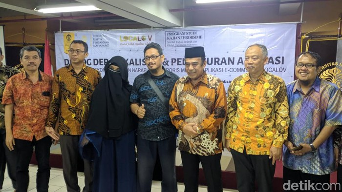 Istri Mantan Napi Teroris Bertemu Menteri Agama Fachrul Razi (Jefrie/detikcom
