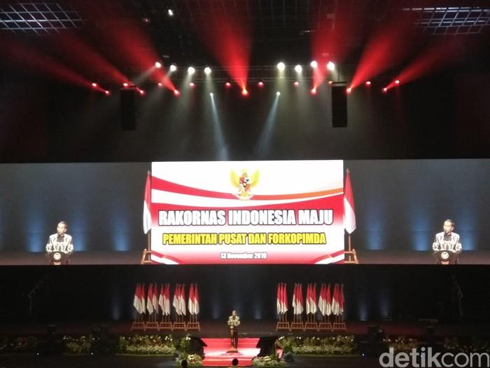 Presiden Jokowi di Forkopimda (Fida/detikcom)