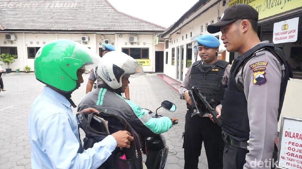 Pengamanan Kantor Polisi di Jateng Tak Tendensius ke Ojek Online