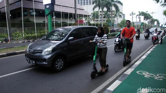 Foto ilustrasi skuter listrik. (Lamhot Aritonang/detikcom)