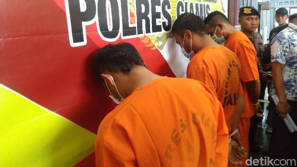 Polisi Tangkap 3 Penambang Batu Kapur Ilegal di Pangandaran