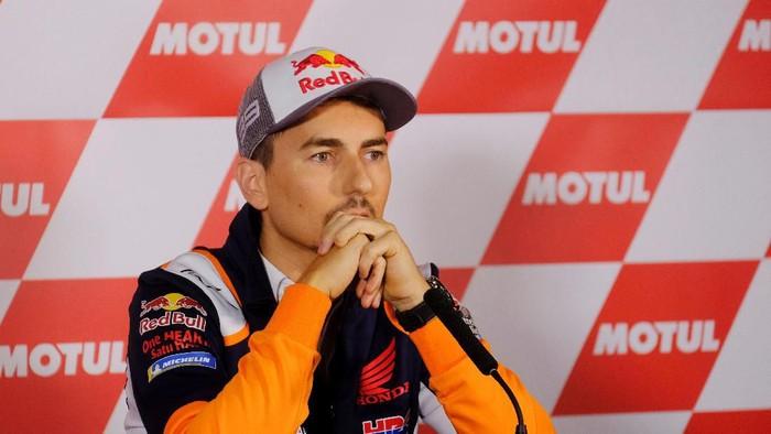 Pebalap MotoGP Jorge Lorenzo mengumumkan akan pensiun (Foto: Heino Kalis/REUTERS)