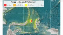 Gempa Malut Berpotensi Tsunami Dirasakan Cukup Kuat di Halmahera Tengah
