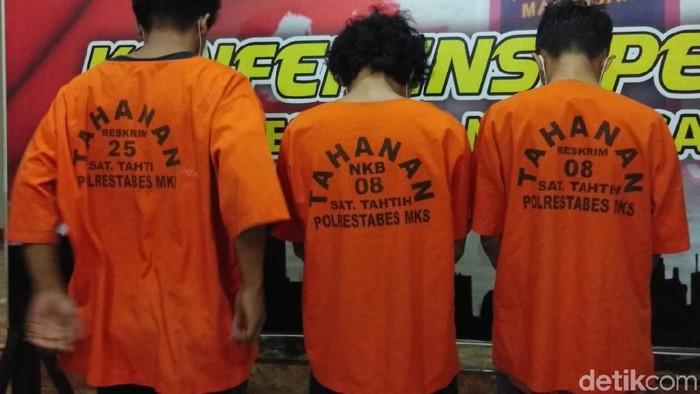 Tersangka kasus tewasnya mahasiswa UMI Makassar. (Hermawan/detikcom)