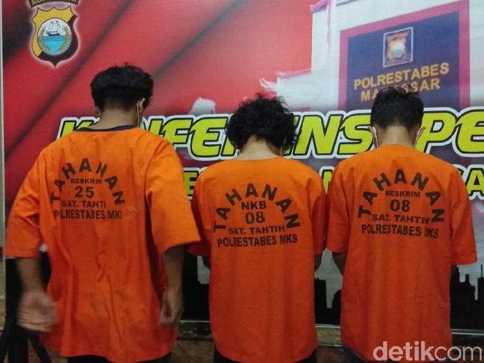 Foto: Tiga Orang Jadi Tersangka di Kasus Tewasnya Mahasiswa UMI Makassar (Hermawan-detikcom)