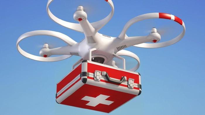 Impian Menkes Terawan kirim obat pakai drone (Foto: iStock)