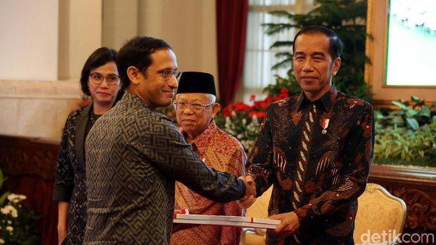 Nadiem dan Presiden Jokowi /