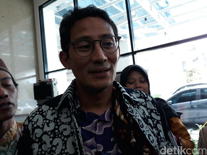 Wakil Ketua Dewan Pembina Partai Gerindra, Sandiaga Uno, di Bantul, DIY, Kamis (14/11/2019).
