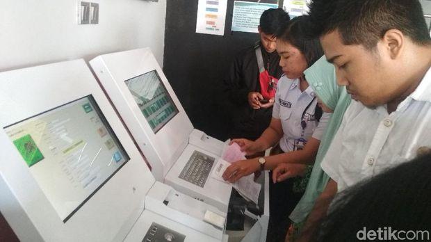 Sistem layanan pendaftaran juga sudah bersifat mandiri.