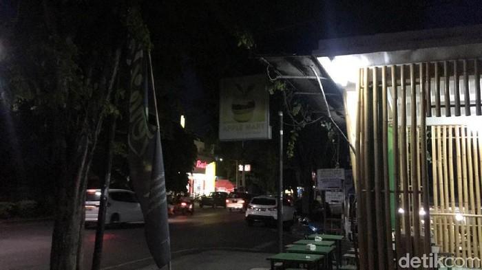 Suasana di Jl A Yani, Singaraja, Buleleng, seusai gempa. (Aditya/detikcom)