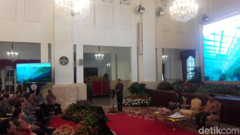 Kala Jokowi Hampir Lupa Sapa Maruf Amin di Acara Penyerahan DIPA Tahun 2020