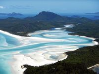 Whiteheaven beach.