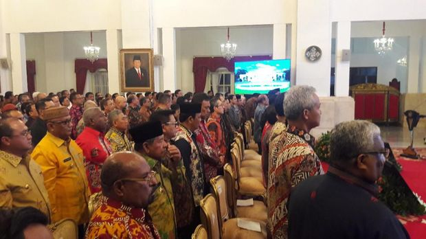 Kala Jokowi Lupa Sapa Ma'ruf Amin di Acara Penyerahan DIPA Tahun 2020