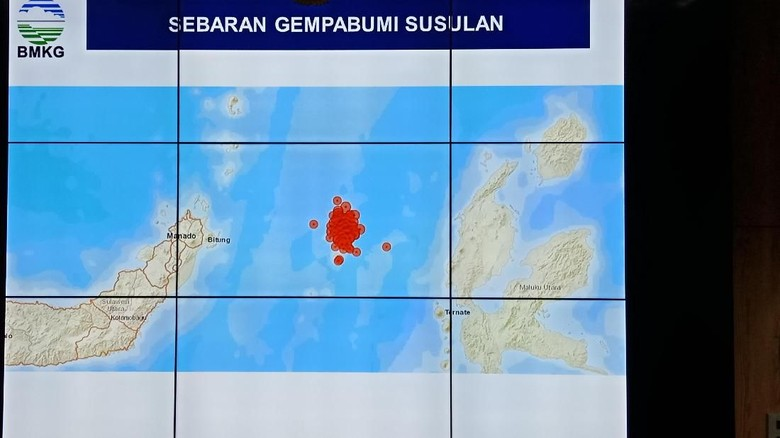 Gempa Bumi Susulan di Malut-Sulut Tercatat 81 Kali