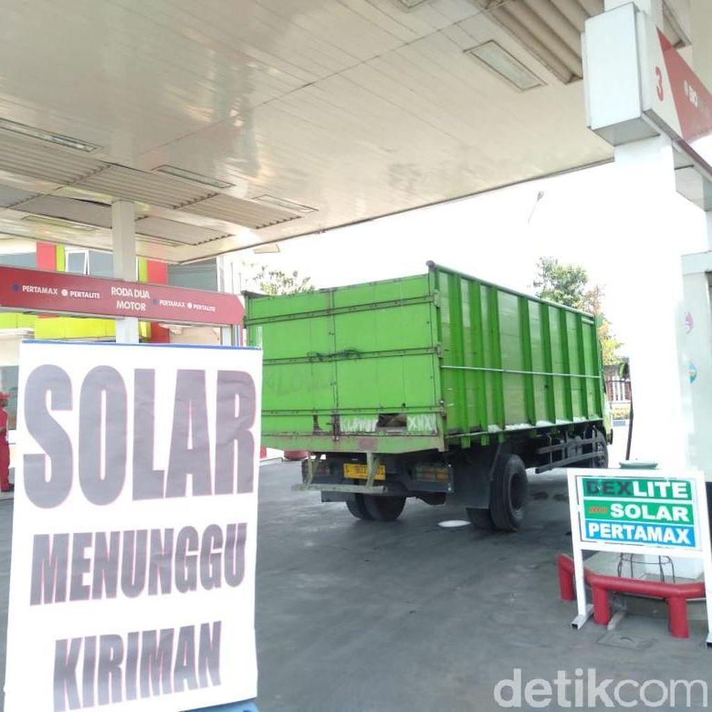 Kelangkaan Solar Terjadi di Sepanjang Bypass Mojokerto