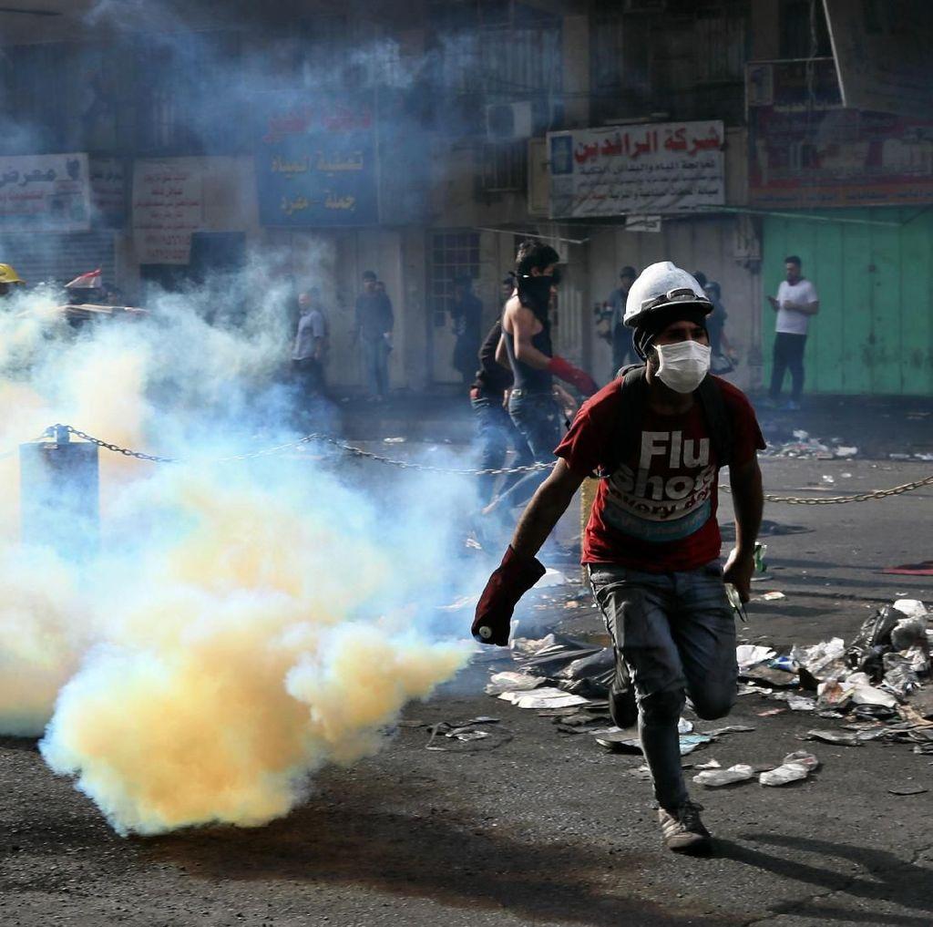 Bentrokan Kembali Terjadi, 2 Demonstran Irak Tewas dan Puluhan Luka-luka