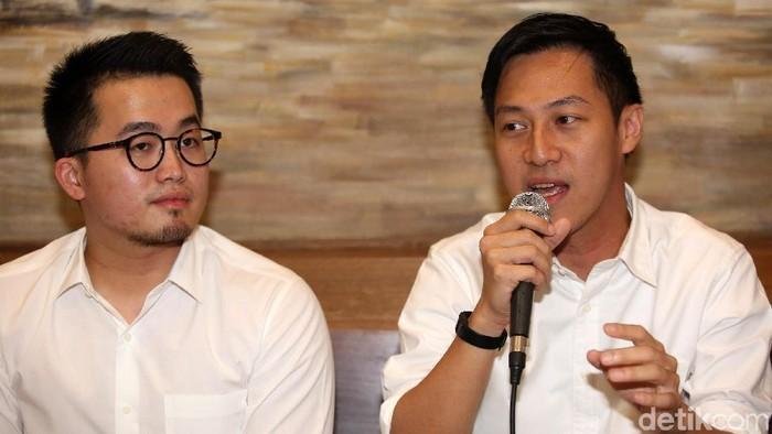 Pendiri komunitas daring Kaskus, Andrew Darwis (kanan) (Agung Pambudhy/detikcom)