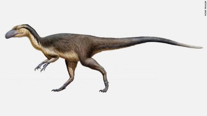 Perkiraan wujud dinosaurus berbulu di Kutub. Foto: CNN