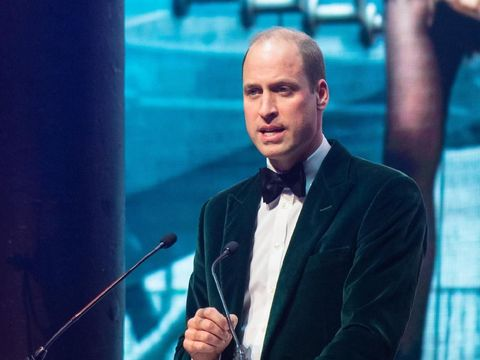 LONDON, ENGLAND - NOVEMBER 13: Prince William, Duke of Cambridge and Patron of Centrepoint, delivers a speech at a gala to mark the charity's 50 years of tackling youth homelessness, at The Roundhouse on November 13, 2019 in London, England. Duran Duran, Rita Ora and Hussain Manawer all performed at the gala. (Photo by Dominic Lipinski - Pool/Getty Images)