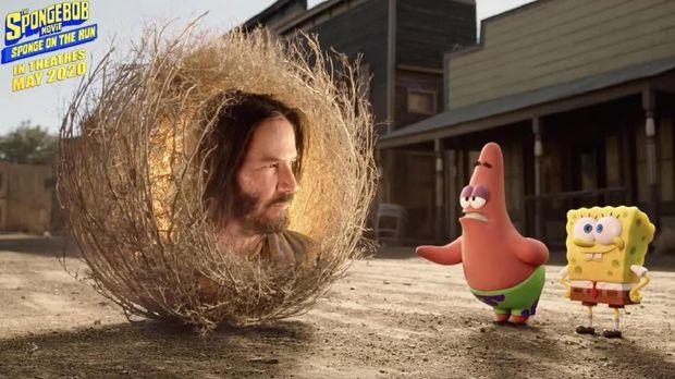 Keanu Reeves Jadi Kameo di Film 'SpongeBob' Terbaru