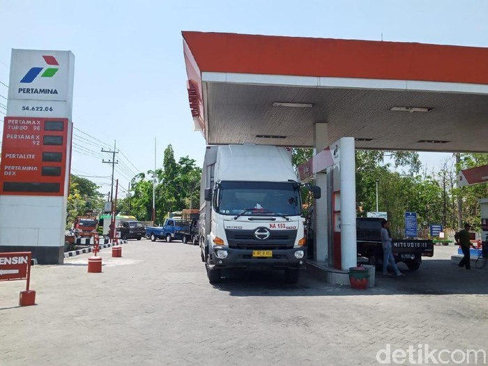 SPBU di Lamongan/Foto: Eko Sudjarwo