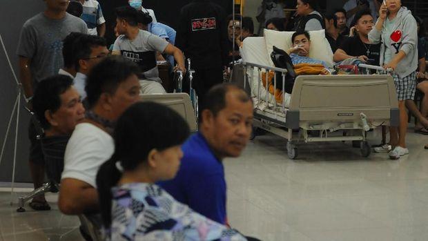 Potret Kepanikan Pasien RS Saat Gempa di Malut /