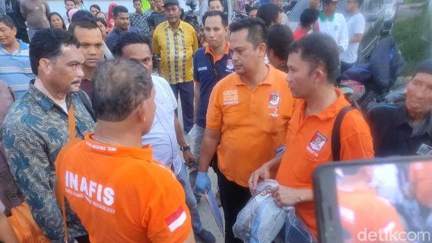 Jl Tambak Lingkungan 20, Medan Belawan Jl Tambak Lingkungan 20, Medan Belawan usai penggeledahan terkait bom Medan