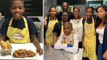 Keren! Bocah 11 Tahun Ini Buka Restoran Vegan Setelah Belajar Masak Sendiri