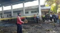 Api yang Membakar Pasar Beras Padam, Polisi Pasang Garis Police Line