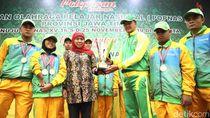 Khofifah Sambut Atlit Juara Umum Pekan Paralympic Pelajar Nasional