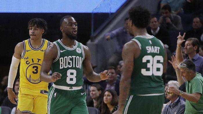 Boston Celtics raih kemenangan ke-10 beruntun di NBA (AP Photo/Ben Margot)