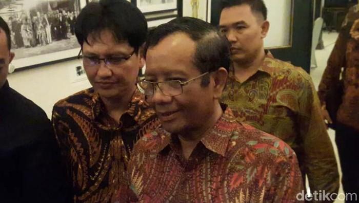 Menko Polhukam Mahfud Md di Sleman, DIY, Jumat (15/11/2019). Foto: Usman Hadi/detikcom