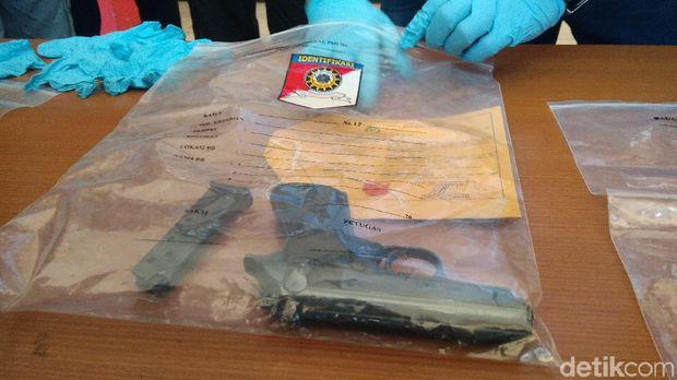 Ini Penampakan Pistol yang Dipakai Anak Bupati Majalengka Tembak Kontraktor