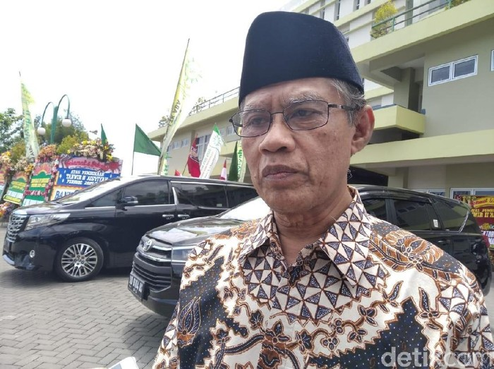 Ketum PP Muhammadiyah Haedar Nashir di Unisa, Sleman, DIY, Sabtu (16/11/2019).