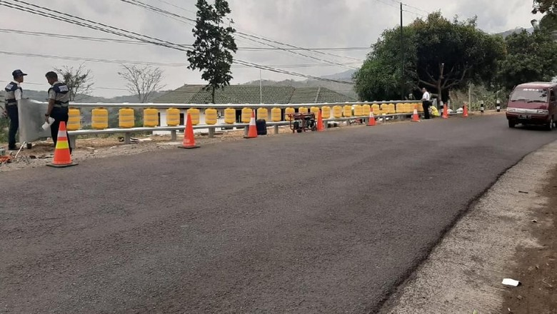 Roller Barrier terpasang Foto: Istimewa