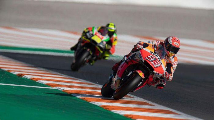 Rider Repsol Honda, Marc Marquez, menutup musim dengan kemenangan di MotoGP Valencia. ( Foto: Mirco Lazzari gp/Getty Images)
