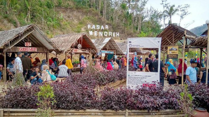 Terletak di Badan Otorita Borobudur (BOB), inilah destinasi digital Pasar Menoreh yang Instagramable. Meski berada di pelosok desa, namun detinasi wisata ini cukup gampang dicari. (Rinto Heksantoro/detikcom)